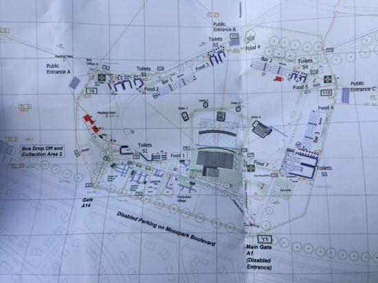 Схема концертной площадки в Глазго Eminem