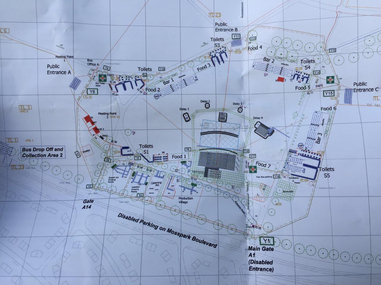 Карта концертной площадки Эминема в Глазго 2017