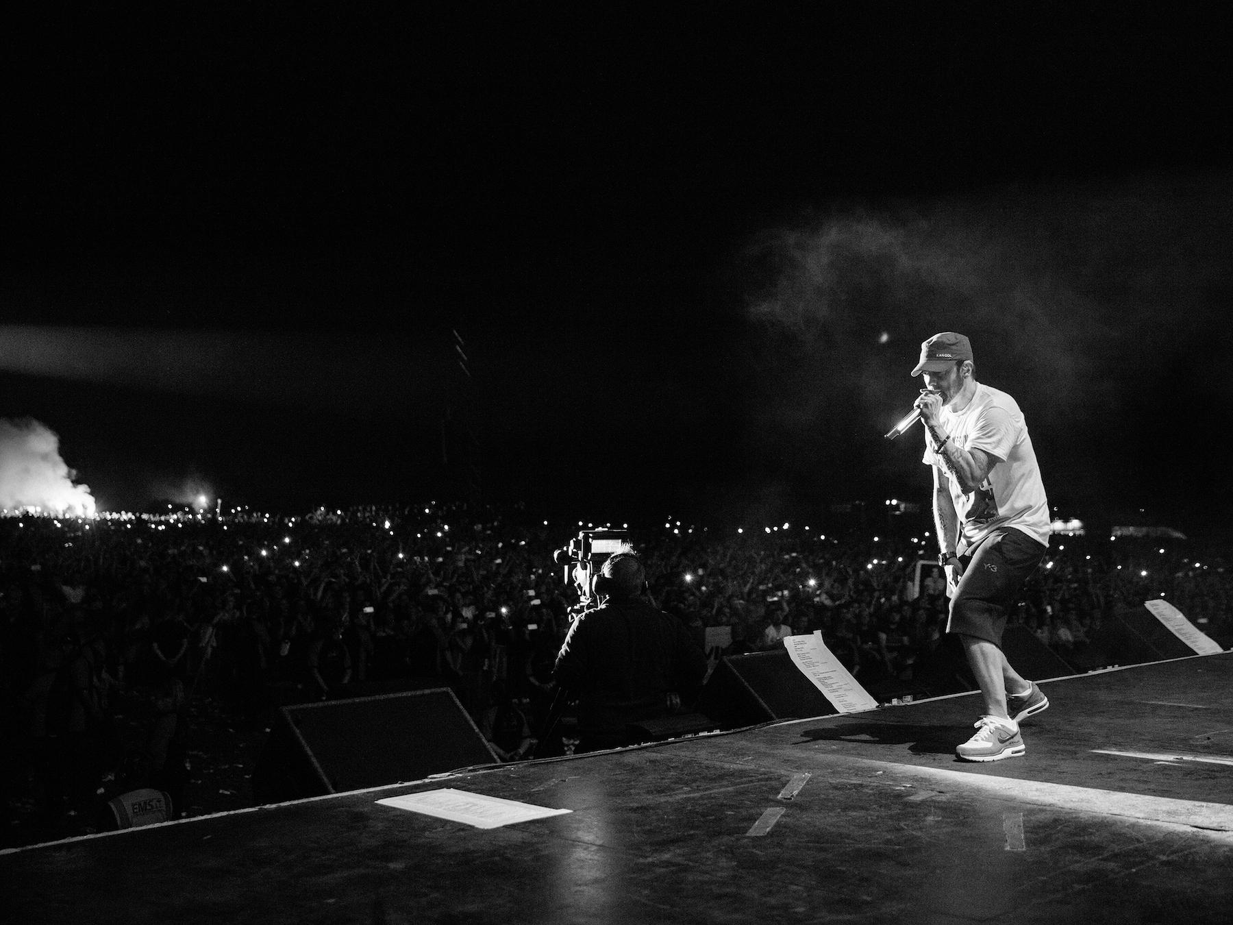 Leeds festival 2017, Eminem, фото Jeremy Deputat