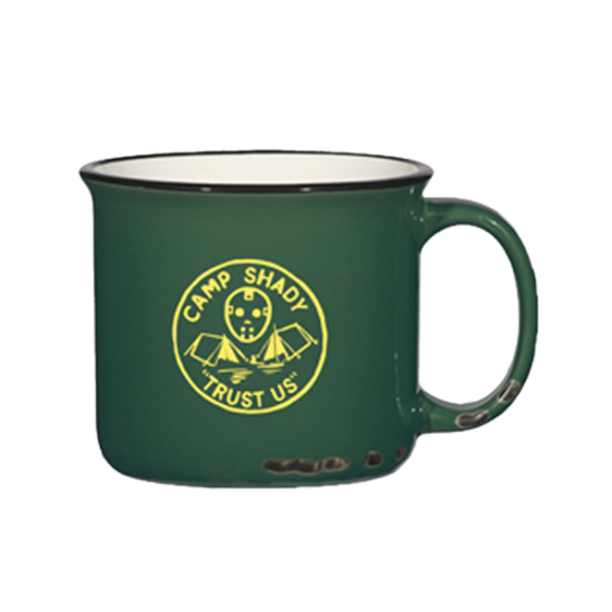 Металлическая походная кружка «Camp Shady Distressed Mug in Green»