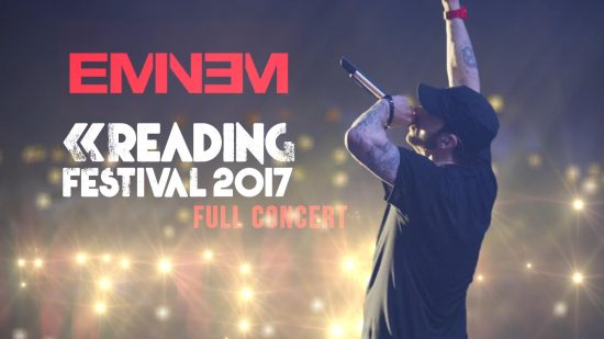 Премьерный показ мультикамерной записи с концерта Эминема в Рединге от Eminem.Pro и 4street4life