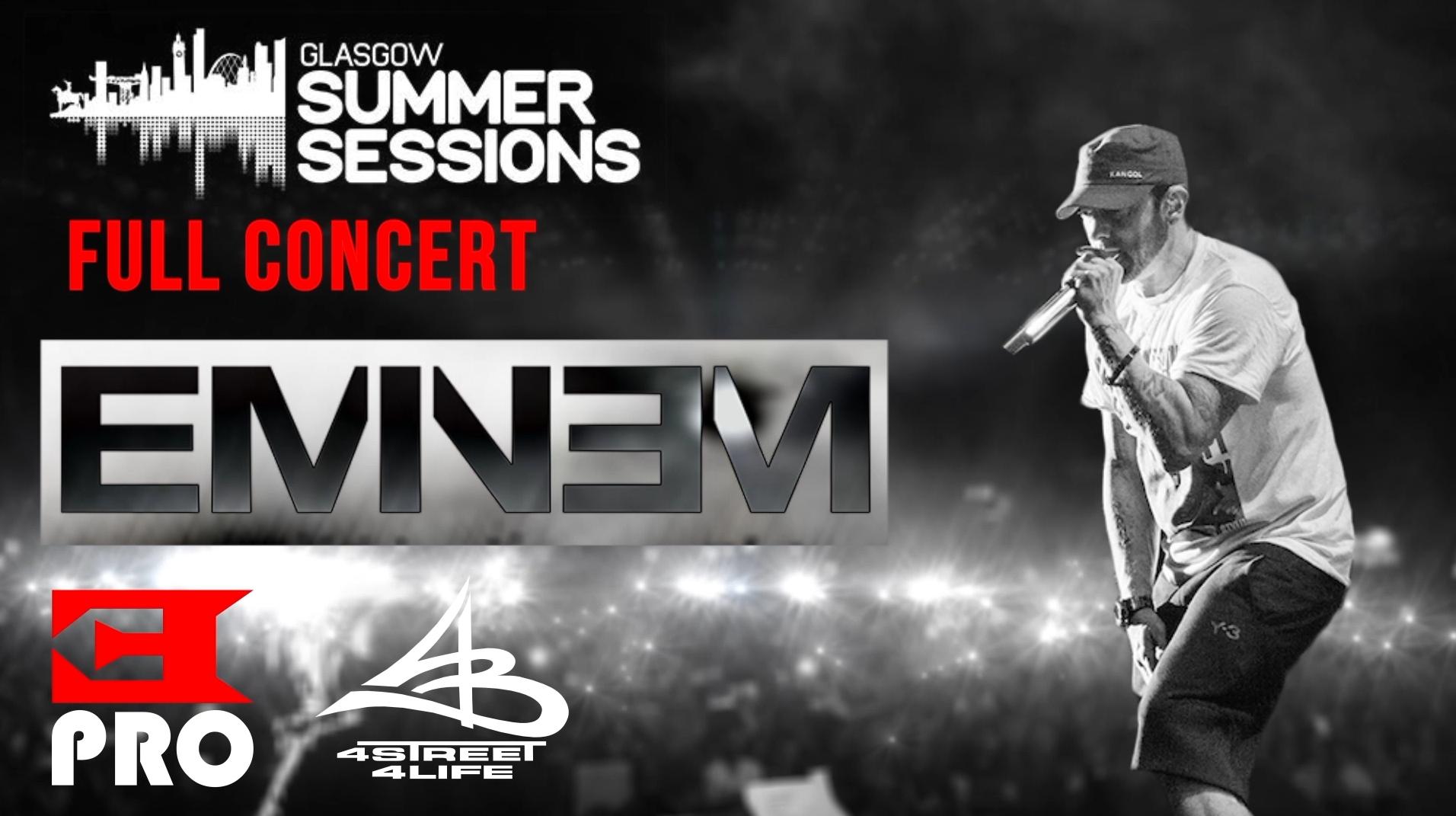 Премьерный показ мультикамерной записи с концерта Эминема в Глазго от Eminem.Pro и 4street4life