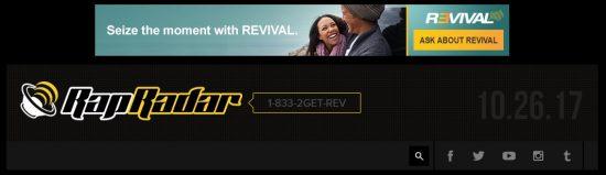 На сайте RapRadar, руководителем которого является Elliott Wilson, приближённый к семье Shady бывший главный редактор журнала XXL и друг Пола Розенберга, размещена реклама препарата «Revival».