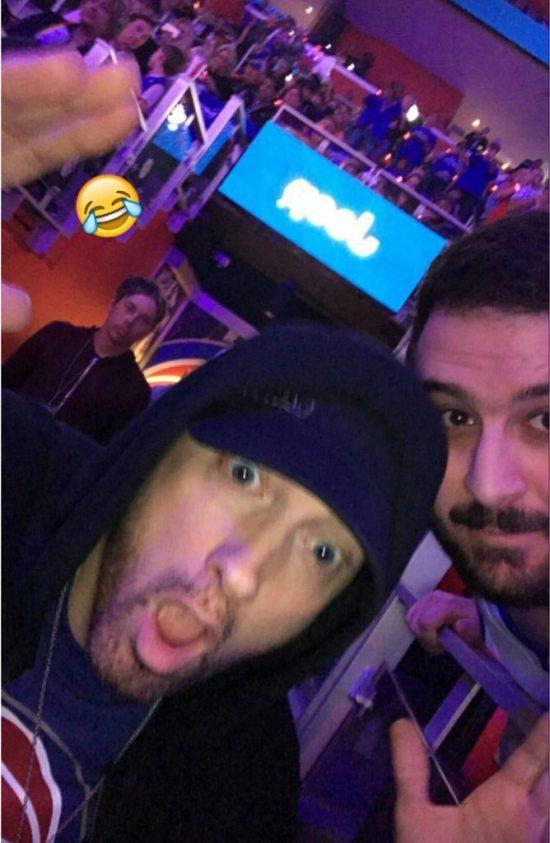 Eminem сделал селфи с фанатом на Little Caesars Arena 18.10.2017