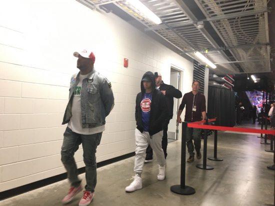 Eminem Mr. Porter на игре Detroit Pistons на стадионе Little Caesars Arena 18.10.2017