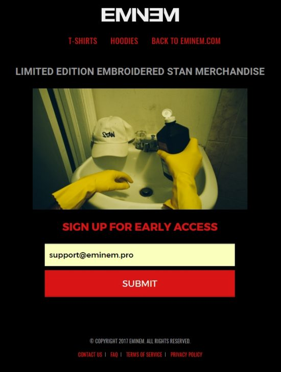LIMITED EDITION EMBROIDERED STAN MERCHANDISE