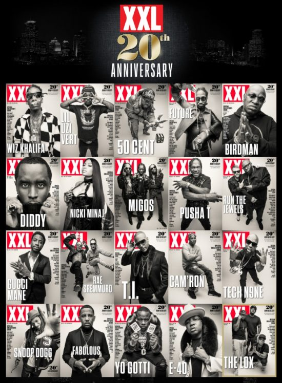 Журнал XXL празднует своё 20-летие выпуском специальных «20th Annyversary» версий журнала с эксклюзивными кавер-стори от разных хип-хоп артистов. В своё кавер-стори Nicki Minaj рассказала, что считает Эминема, Lil Wayne и Jay-Z одними из самых влиятельных хип-хоп артистов.