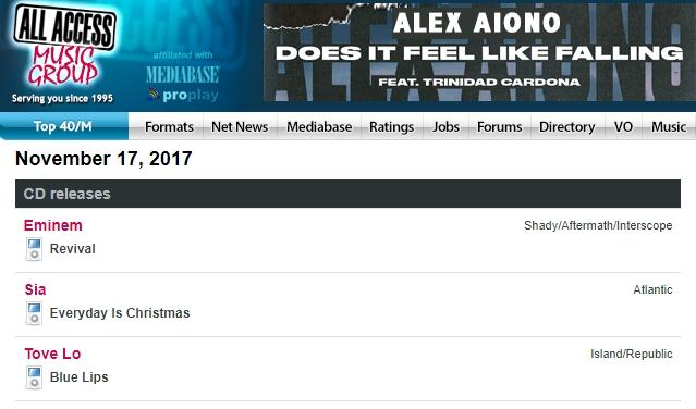Портал AllAccess включил альбом «Revival» Эминема в график релизов на 17 ноября