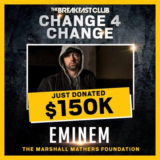 Eminem пожертвовал 150,000 $ на благотворительную акцию