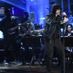 SATURDAY NIGHT LIVE -- Episode 1731 -- Pictured: Eminem performs a Medley in Studio 8H on Saturday, November 18, 2017 -- (Photo by: Will Heath/NBC/NBCU Photo Bank via Getty Images)