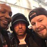 2017.11.17 - Phil Duckett, Eminem, Chris Scopo at SiriusXM Studios NY