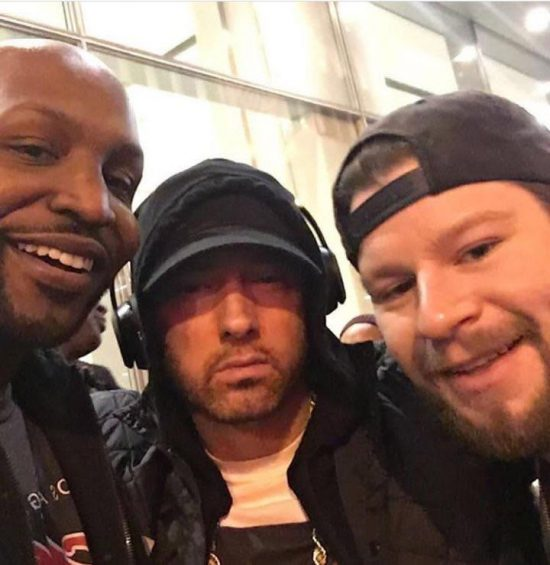 2017.11.17 - Phil Duckett, Eminem, Chris Scopo at SiriusXM Studios NY