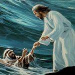 Эти строки продолжают общую тему этих песен и Евангелие от Матфея 14: 22-33, где Иисус просит Петра ходить по воде.
