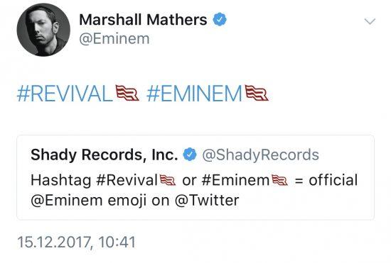 Для релиза «Revival» администрация твиттера сделала специальные эмоджи-хештеги