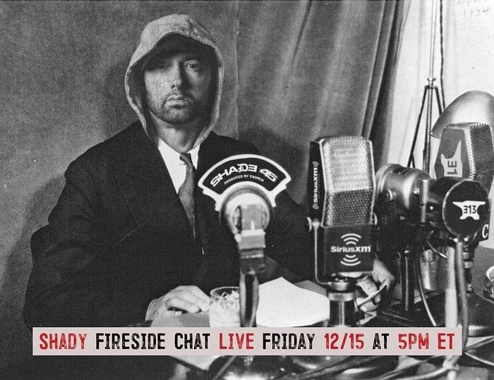Shady Fireside Chat: Чат Eminem'а с фанатами и СМИ (Начало 16 декабря в 1:00 по Москве)