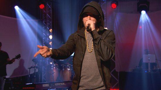 Eminem and Annie Mac (BBC Radio 1)