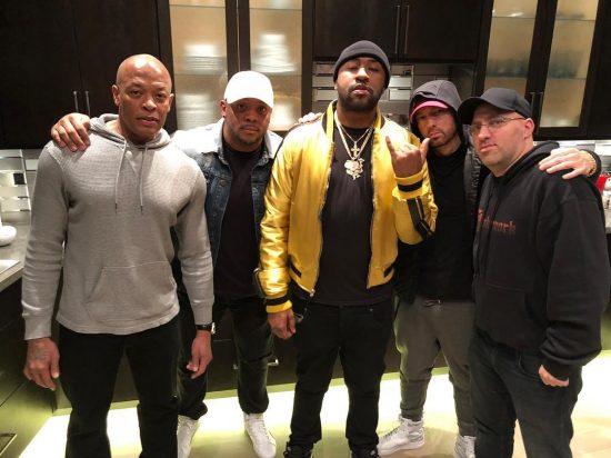2018.01.22 - Dr.Dre, Mr. Porter, Mike Will, Eminem and DJ Mormile