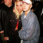 Rapper Eminem (R) and wife Kim (L) at his record release party. (Photo by Marion Curtis/DMI/The LIFE Picture Collection/Getty Images) Eminem.Pro