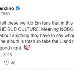 Benzino вновь диссит Eminem'а и его фанатов