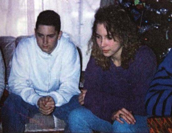 Eminem (18 лет) и Kim (14 лет)