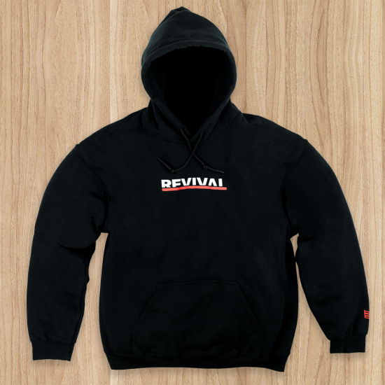 Limited Edition Hoodie from Eminem's 2018 Irving Plaza performance. Black hoodie with images printed on front and back.