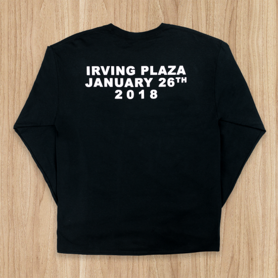 Limited Edition Longsleeve from Eminem's 2018 Irving Plaza performance. White longsleeve with images printed on front, back, and sleeve.