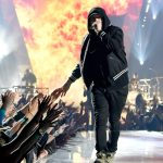 INGLEWOOD, CA - MARCH 11: Eminem performs onstage during the 2018 iHeartRadio Music Awards which broadcasted live on TBS, TNT, and truTV at The Forum on March 11, 2018 in Inglewood, California. (Photo by Kevin Mazur/Getty Images for iHeartMedia)