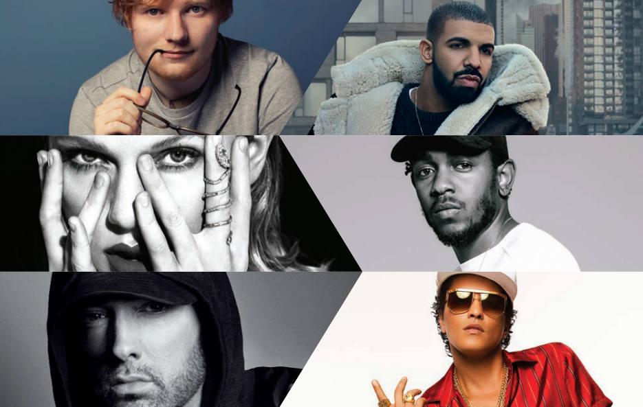 Eminem в списке самых продаваемых артистов по всему миру в 2017-ом году