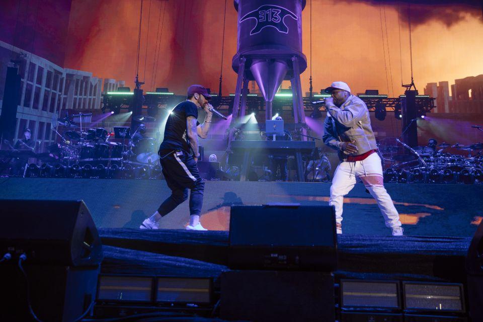 Eminem at Coachella 2018, weekebd 2, 22.04.2018 JEREMY DEPUTAT