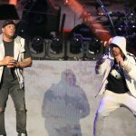 INDIO, CA - APRIL 15: Mr. Porter (L) and Eminem perform onstage during the 2018 Coachella Valley Music and Arts Festival Weekend 1 at the Empire Polo Field on April 15, 2018 in Indio, California. (Photo by Christopher Polk/Getty Images for Coachella)