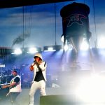 INDIO, CA - APRIL 15: Mr. Porter (L) and Eminem perform onstage during the 2018 Coachella Valley Music and Arts Festival Weekend 1 at the Empire Polo Field on April 15, 2018 in Indio, California. (Photo by Kevin Mazur/Getty Images for Coachella)