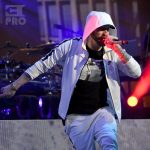 INDIO, CA - APRIL 15: Eminem performs onstage during the 2018 Coachella Valley Music and Arts Festival Weekend 1 at the Empire Polo Field on April 15, 2018 in Indio, California. (Photo by Kevin Mazur/Getty Images for Coachella)