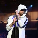 INDIO, CA - APRIL 15: Eminem performs onstage during the 2018 Coachella Valley Music and Arts Festival Weekend 1 at the Empire Polo Field on April 15, 2018 in Indio, California. (Photo by Kevin Winter/Getty Images for Coachella)