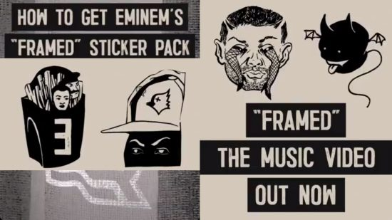 Eminem x Instagram: Специальный стикер-пак к релизу клипа «Framed»