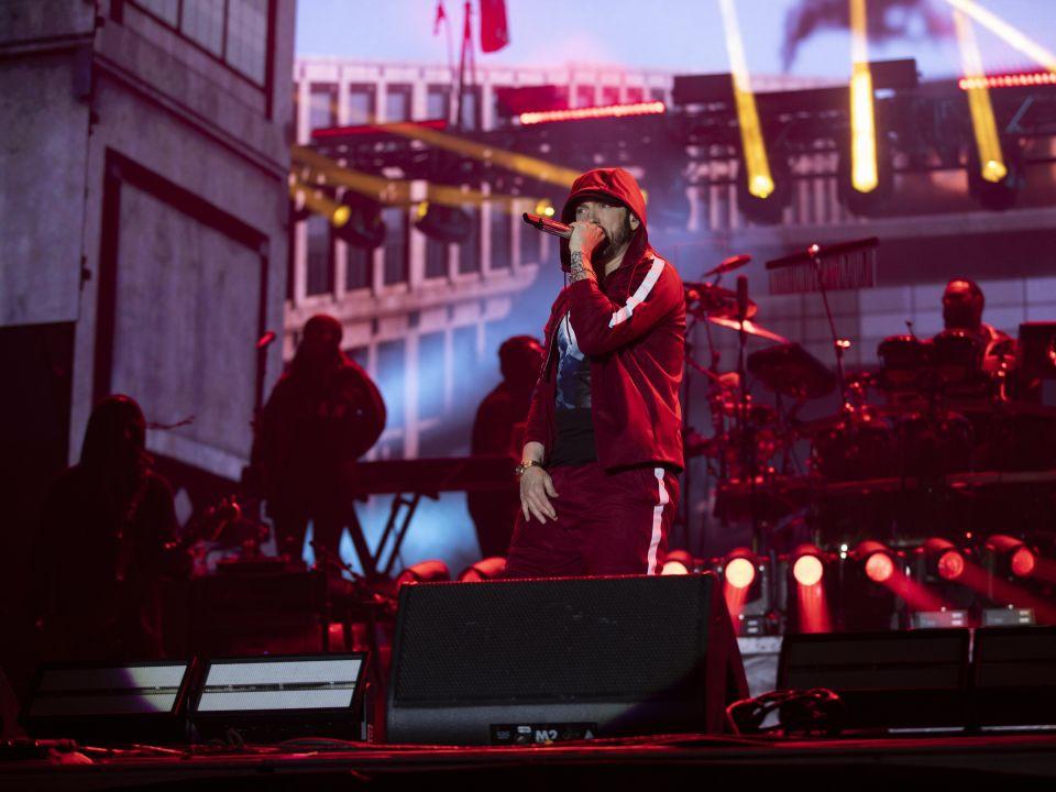 Eminem at Boston Calling 2018 photo by Jeremy Deputat