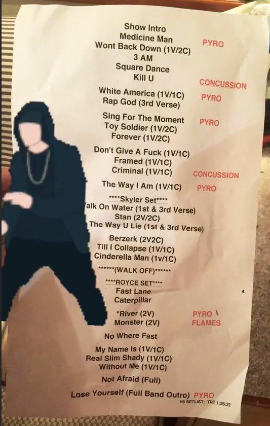 Сет лист Полная запись со вчерашнего концерта Эминема на фестивале Boston Calling