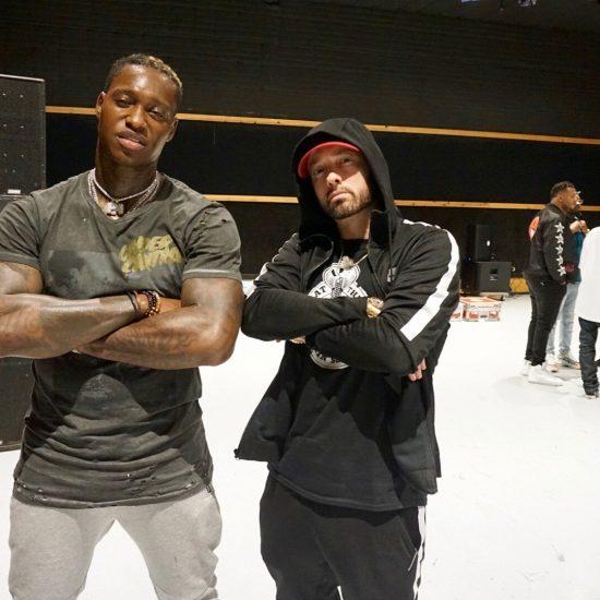 Eminem & Phresher at the Governors Ball backstage