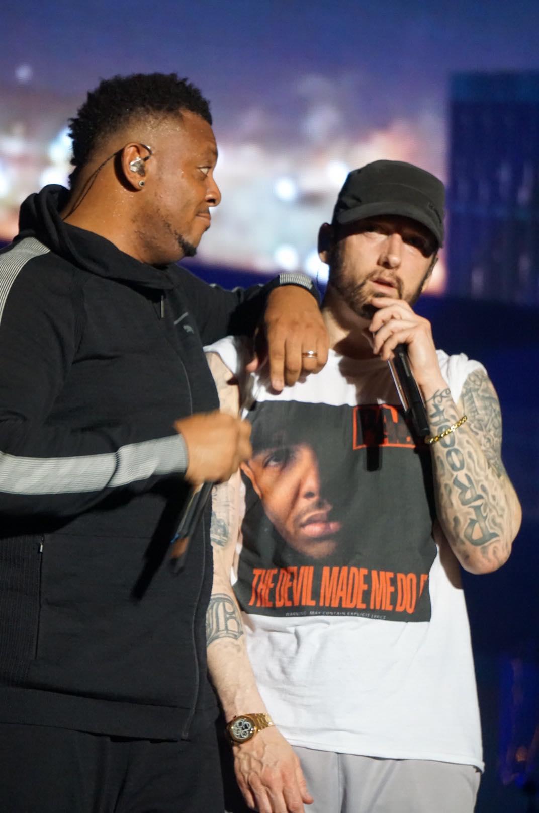 Eminem live at Bonnaroo 2018, photo by Melissa Carter-Borchers epro