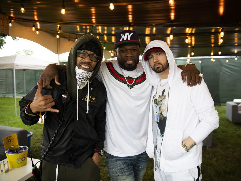 Eminem Redman and 50 Cent at Governors Ball Music Festival 2018