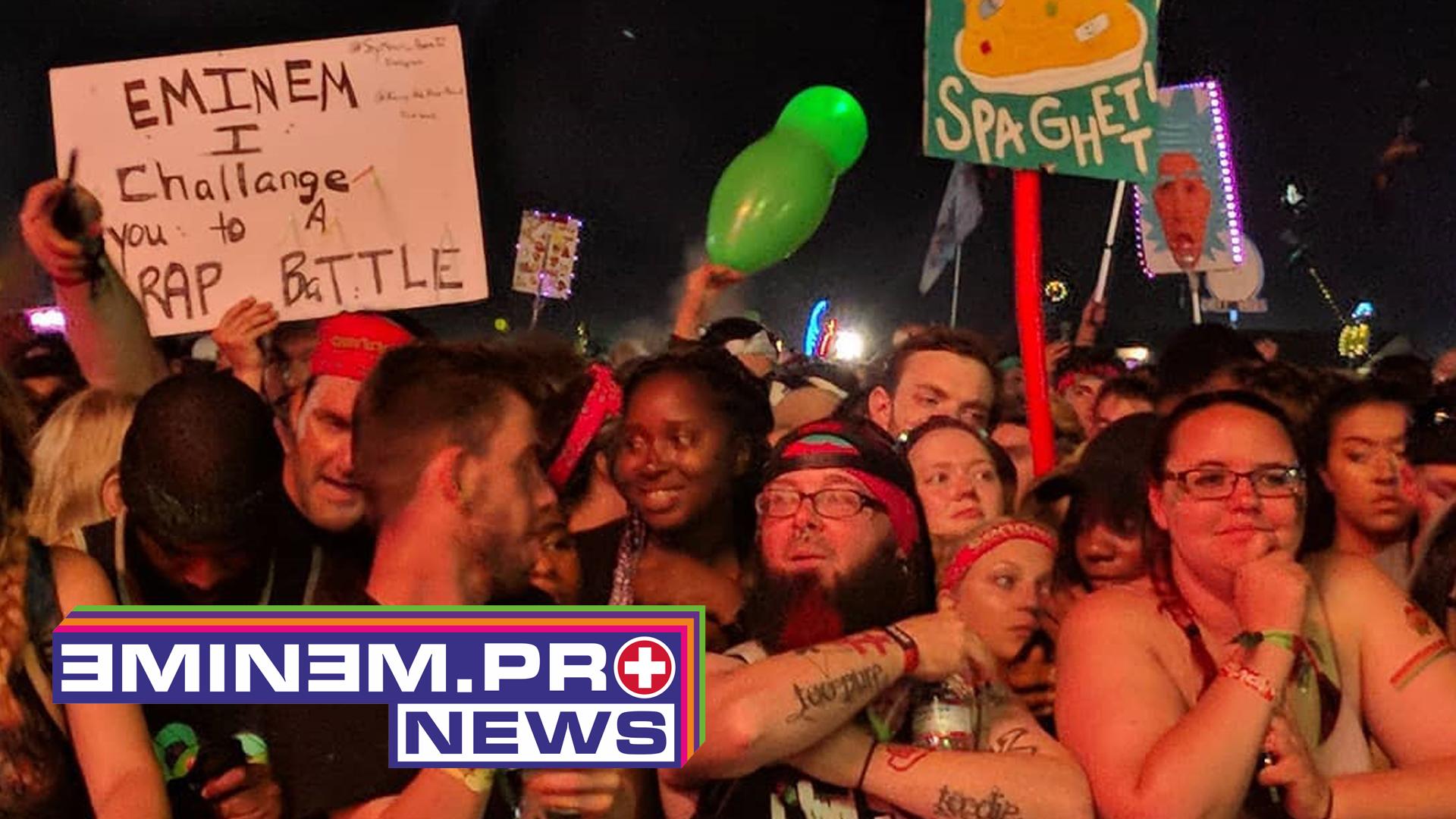 «Люди в панике после выстрела во время концерта Эминема»