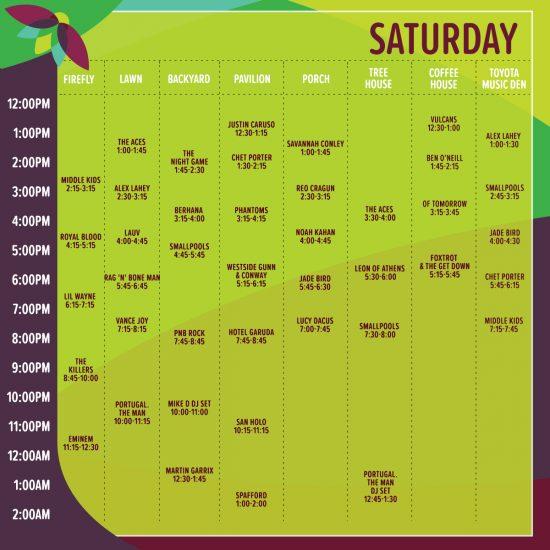 Полная схема лайнапа Firefly Music Festival 2018: