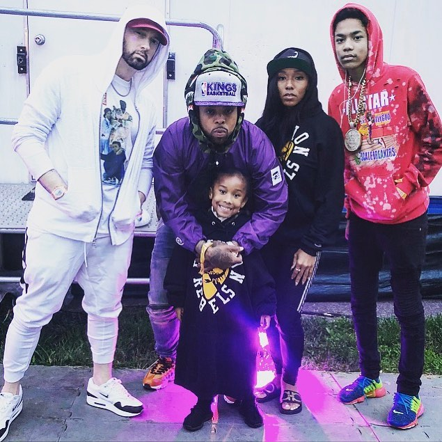Eminem с артистом Griselda Records — Westside Gunn в VIP-зоне фестиваля The Governors Ball 2018