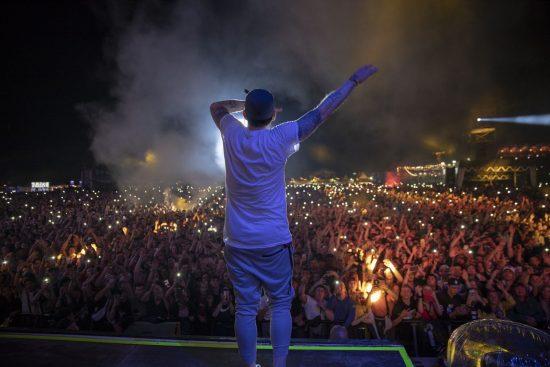 Eminem's 2018 performance at Switzerland's Openair Frauenfeld Festival Revival Tour. Photo Credit: Jeremy Deputat