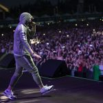Eminem's 2018 performance at Italy's Area Expo Milano Revival Tour. Photo Credit: Jeremy Deputat