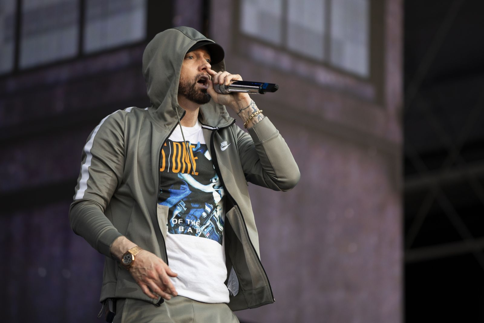Eminem's 2018 performance at Netherlands Nijmegen Revival Tour. Photo Credit: Jeremy Deputat