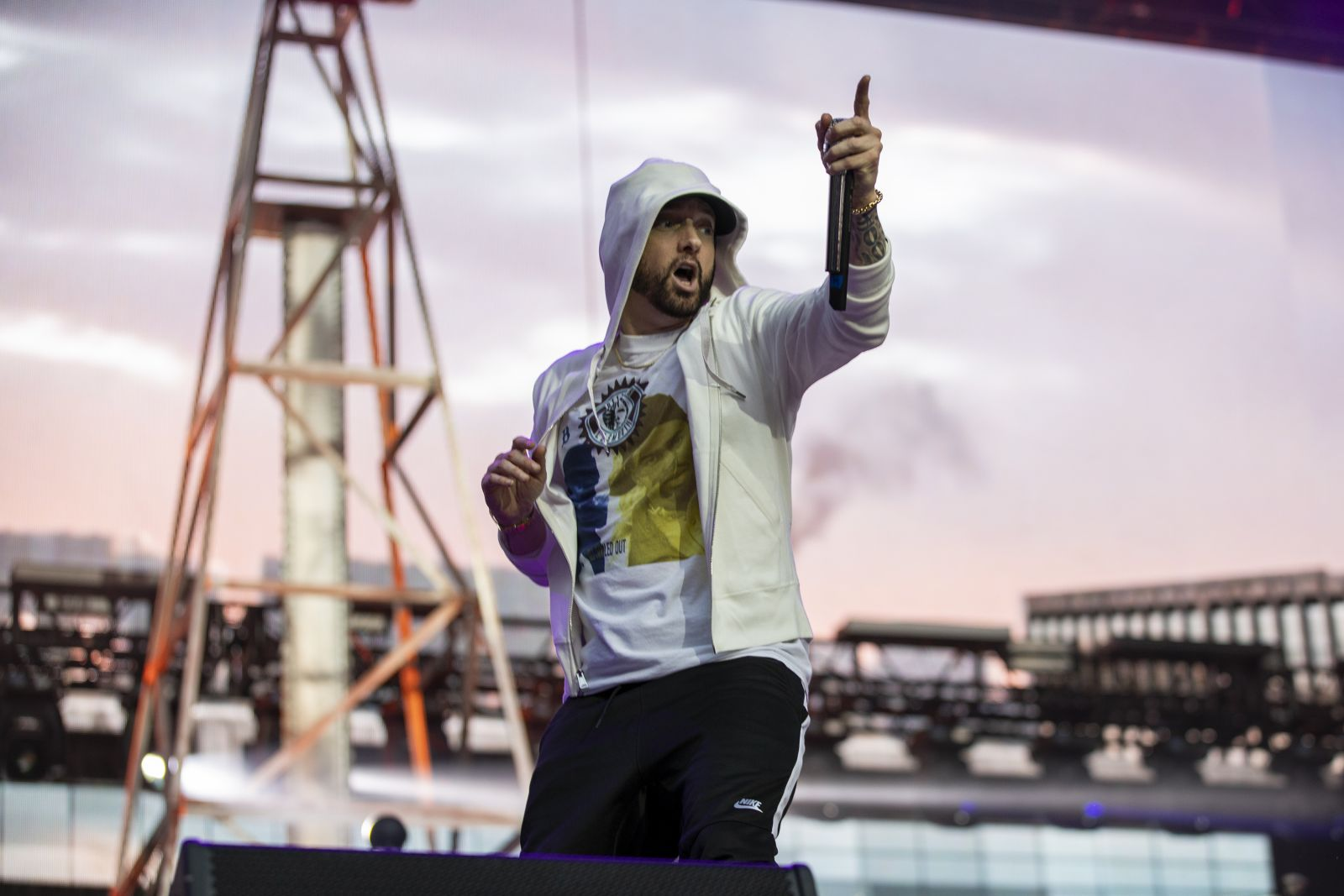 Eminem's 2018 performance at London day 1 UK Revival Tour. Photo Credit: Jeremy Deputat