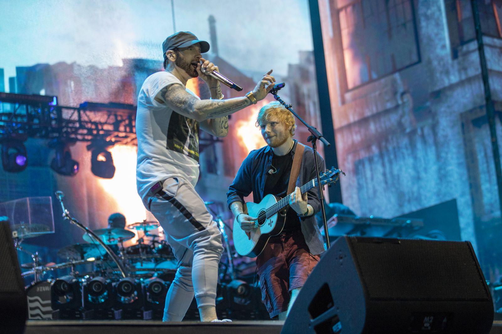 Eminem's 2018 performance at London day 2 UK Revival Tour. Photo Credit: Jeremy Deputat