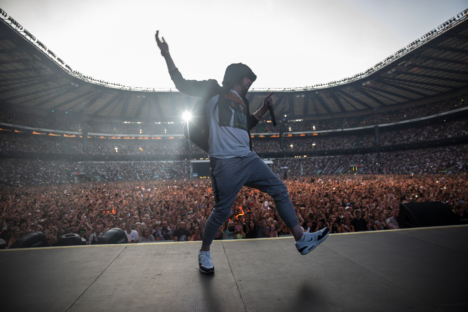 Eminem's 2018 performance at London day 2 UK Revival Tour. Photo Credit: Jeremy Deputat