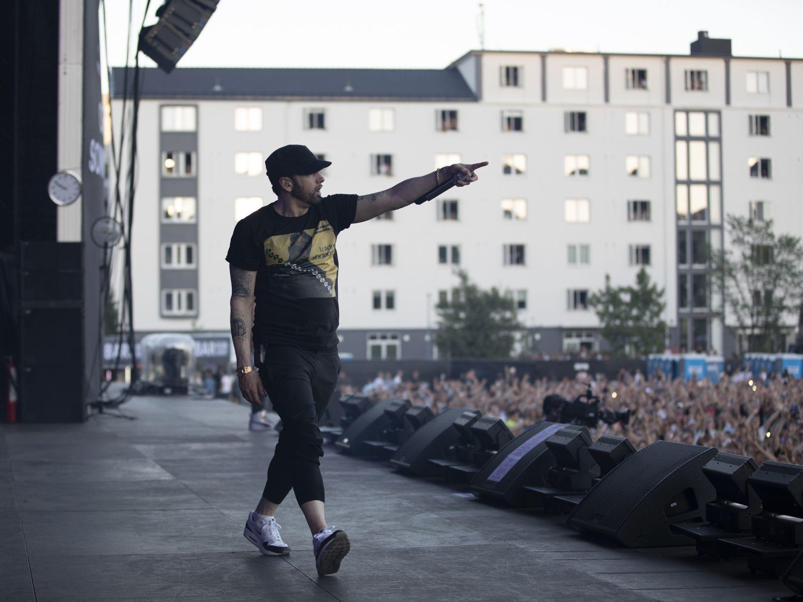 Eminem's 2018 performance in Oslo, Norway Revival Tour. Photo Credit: Jeremy Deputat