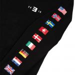 EM-SMMR18.USA-EUR FLAGS CREWNECK Толстовка с логотипом тура и цветными флагами всех стран, в которых Эминем побывал в 2018-ом году с концертами